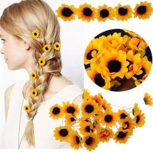 Accessories - ARRIVED! Set of 10 Mini Sunflower Bobbi Pins